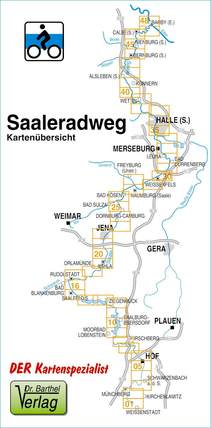 Saale Radweg Karte.Saaleradweg