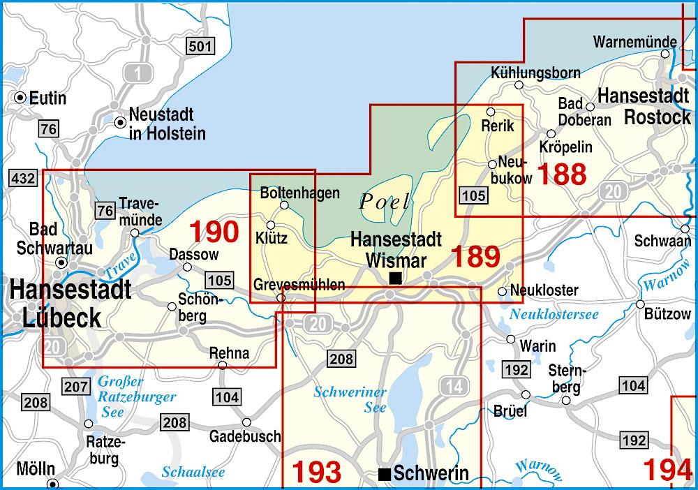 Karte Insel Poel Und Umgebung.Boltenhagen Hansestadt Wismar Insel Poel Und Umgebung